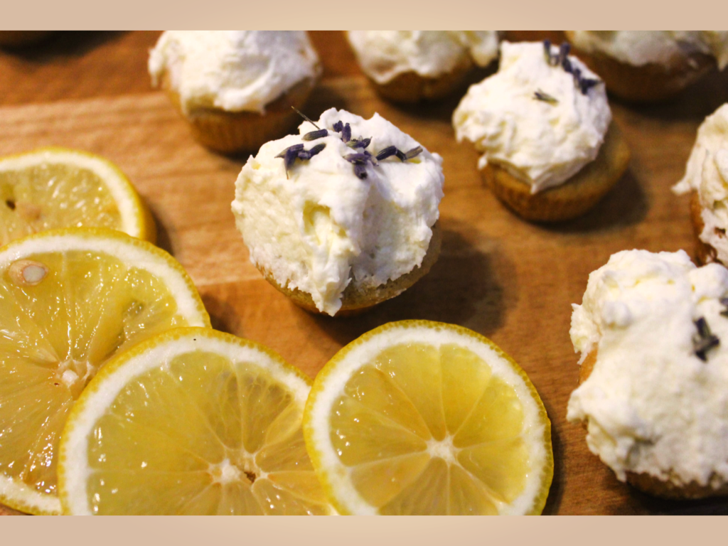 Simply Delicious Lemon Lavender Cupcakes fluffy coconut honey lemon  buttercream frosting