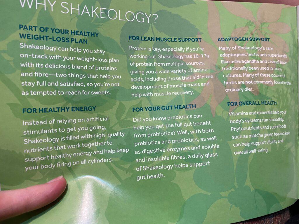 Shakeology superfood power